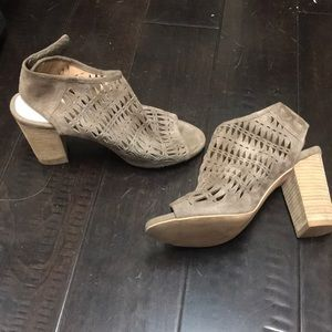 Jeffery Campbell peep toe  booties gently used
